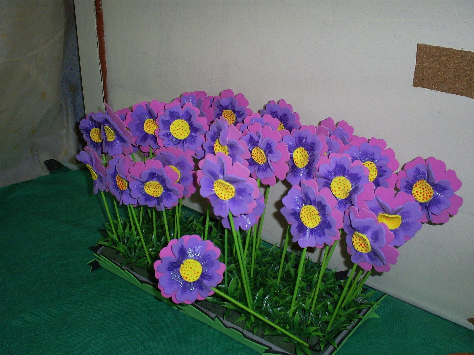 Flores de artesanato em eva - Artesanato passo a passo!