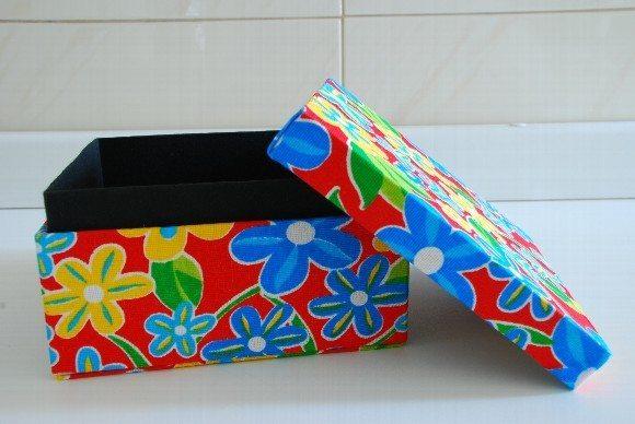 caixa multiuso cartonagem 6F02E Caixa de cartonagem passo a passo