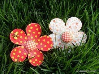Flores De Garrafa Pet E Tecido