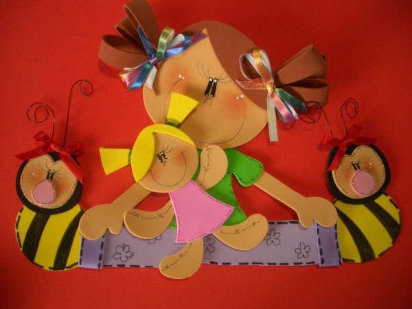 moldes de bonecas em EVA disponíveis na internet para você leitora