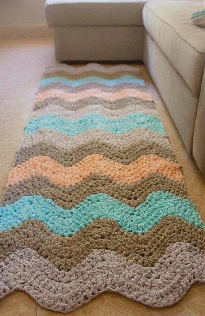 tapetes de crochê para quarto