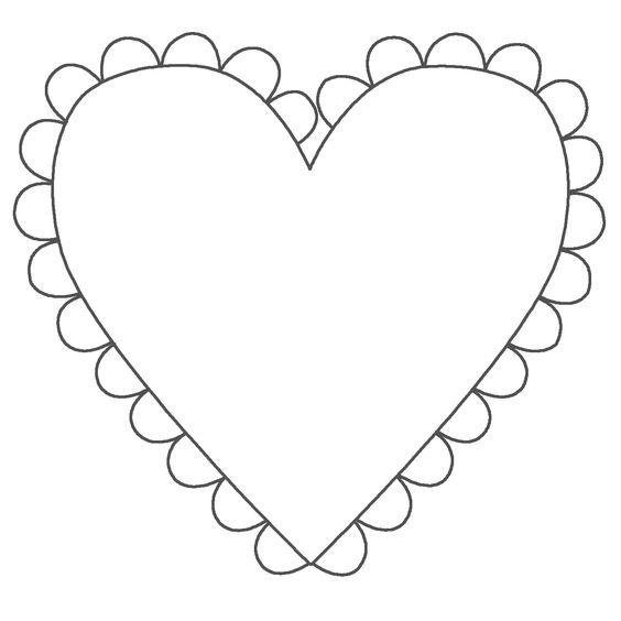 forma coração para imprimir