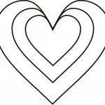 molde de coração para recortar