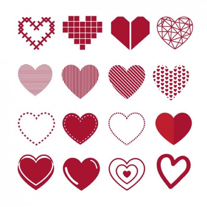 coração para imprimir