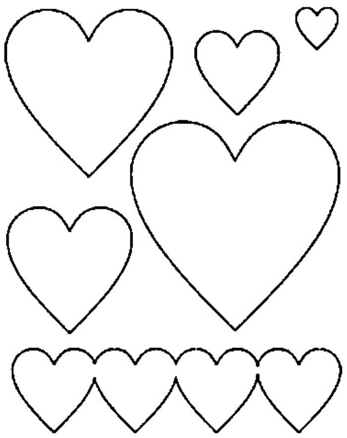 imprimir moldes de coração