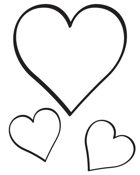 desenho coração molde