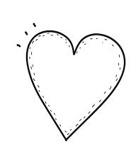 coração molde para imprimir