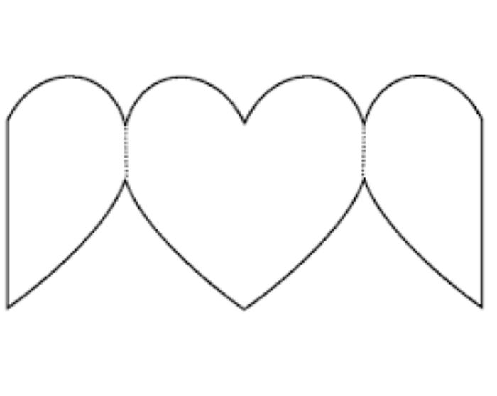 molde de coração origami