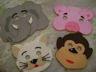Máscaras De Animais Em Eva Artesanato Passo A Passo