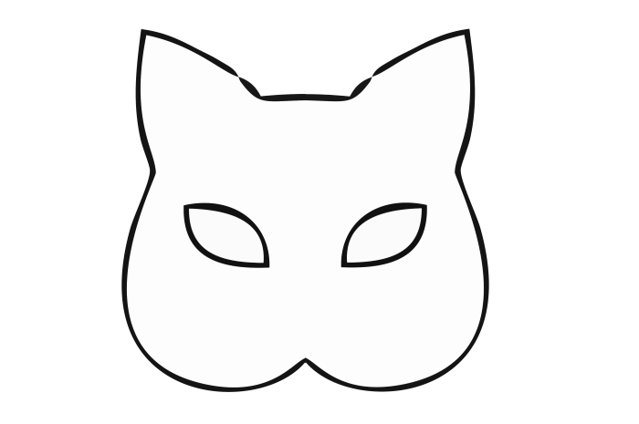 máscaras de carnaval para imprimir grande