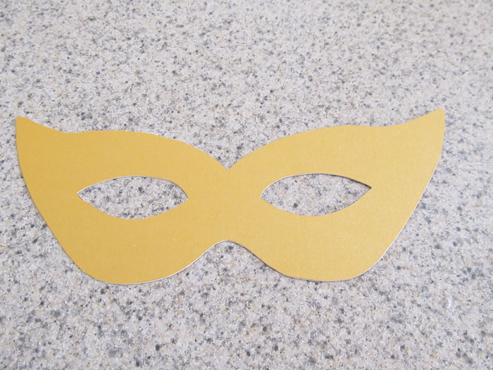 modelo de máscara de carnaval