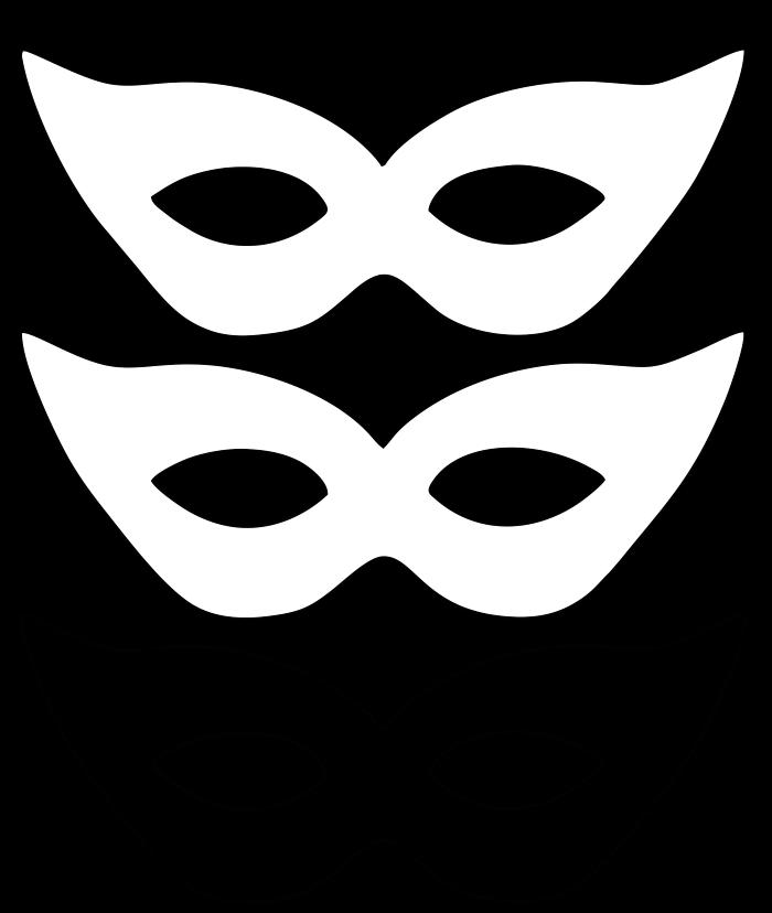 molde de máscara de carnaval