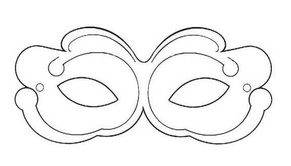 máscaras de carnaval para colorir
