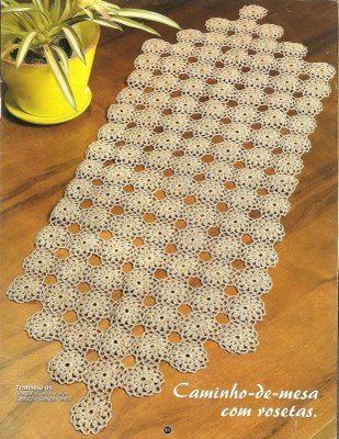 Trilho De Mesa Em Crochê Com Gráfico Artesanato Passo A Passo