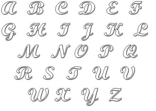 moldes de letras