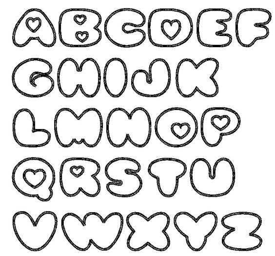 molde de letras grandes