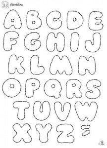 letras para mural molde