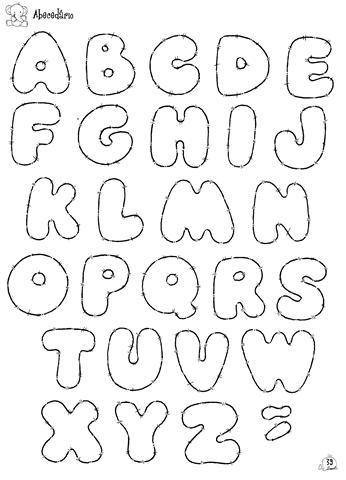 molde de letras eva medio