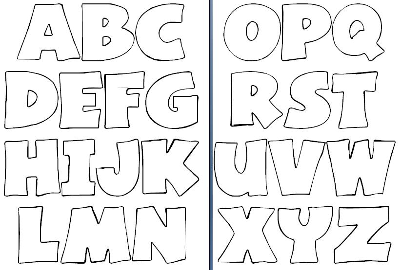 moldes de letras em eva tamanho grande