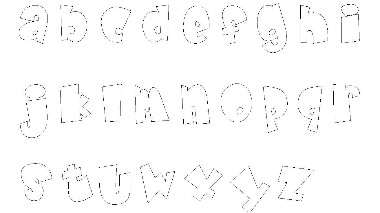 Moldes de letras em eva para imprimir e recortar - Letras decorativas para habitaciones infantiles ...