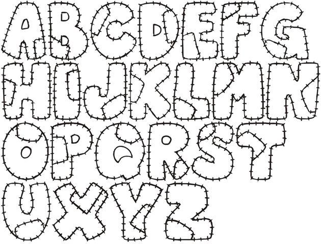 moldes de letras em eva para painel de aniversario