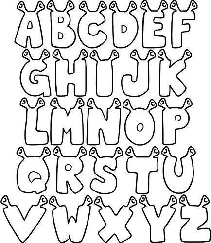 Moldes De Letras Em Eva Para Imprimir