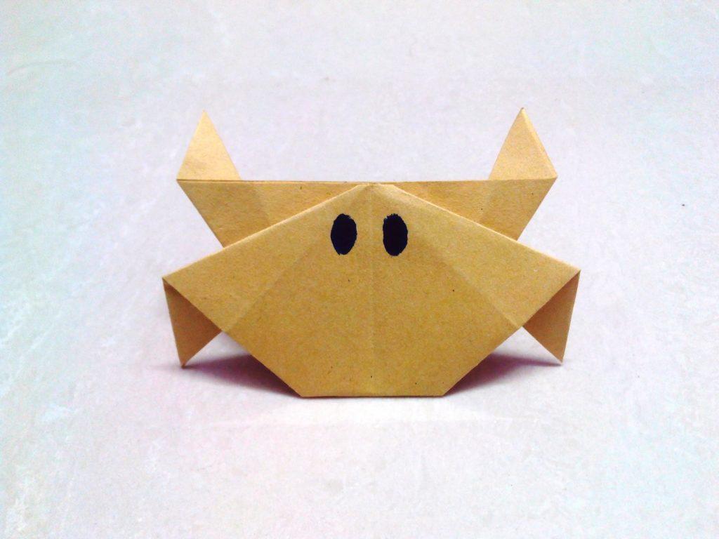 caranguejo origami