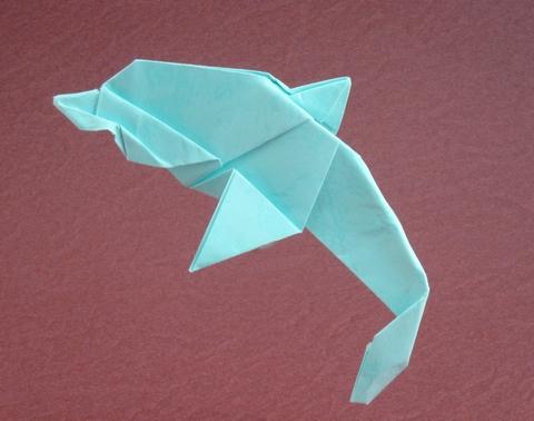golfinho papel