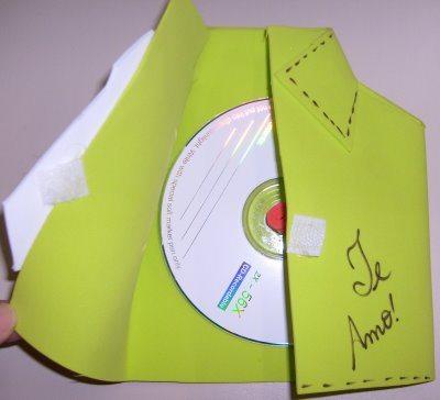 porta cd aberto Lembrancinha Dia dos pais em EVA