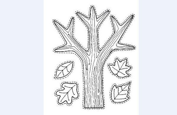 tronco molde com folhas