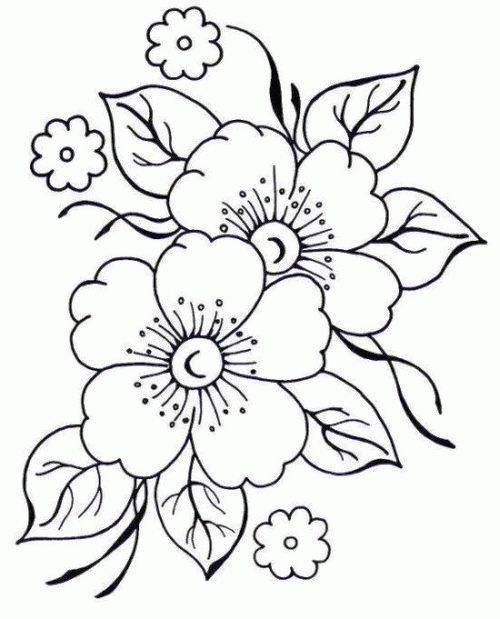 Riscos Para Bordar Flores Artesanato Passo A Passo