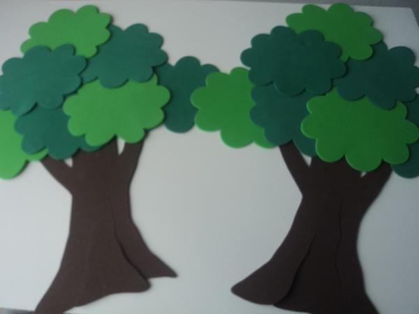 árvore em eva para painel
