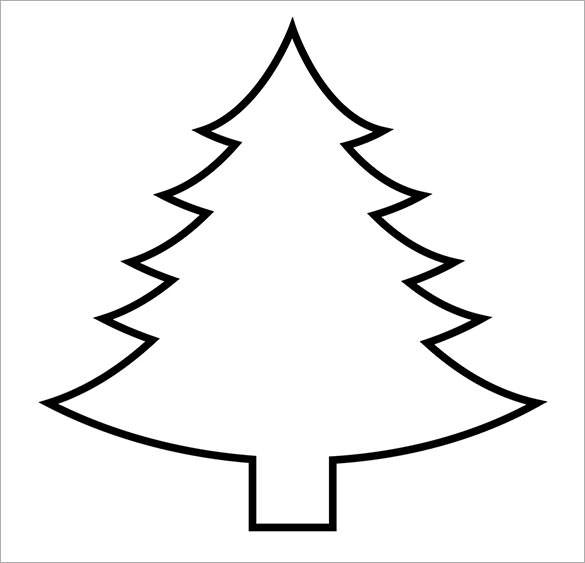 Blank Christmas Tree Outline