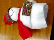 Banco de Neve 12 Boneco de neve de tecido e feltro passo a passo