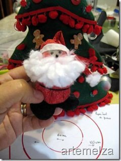 Como Fazer Papai Noel de Fuxico 1 Papai Noel de fuxico passo a passo