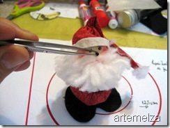 Como Fazer Papai Noel de Fuxico 12 Papai Noel de fuxico passo a passo