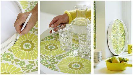 Artesanato com Papel Contact 1 Como fazer decoração com papel contact estampado