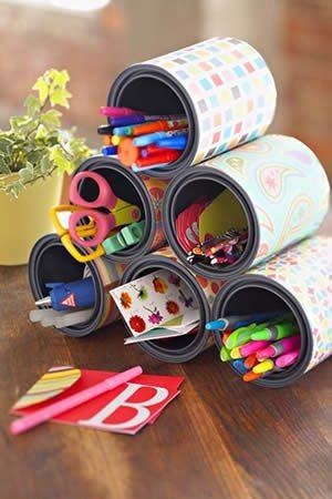 Artesanato com Papel Contact 4 Como fazer decoração com papel contact estampado