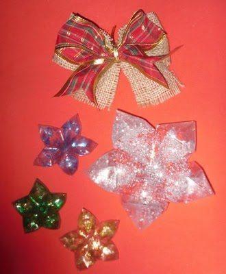 Estrela de Natal Passo 9 Como fazer estrela de Natal com garrafa pet