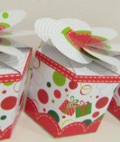 Caixinha de Natal 3 Moldes de caixas para presente