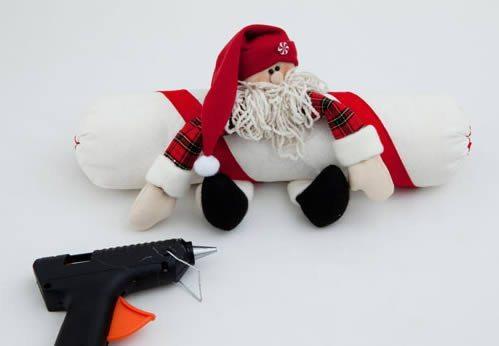 Como fazer Papai Noel peso de porta Passo 27 Papai Noel peso de porta passo a passo