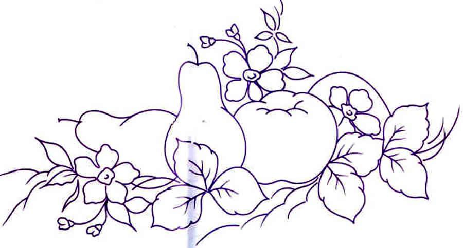 Dibujos de frutas para pintar en tela gratis imagui - Dibujos infantiles para pintar en tela ...