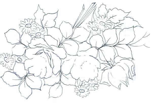 Pintura Em Tecido Graficos Riscos E Desenhos Gratis Artesanato