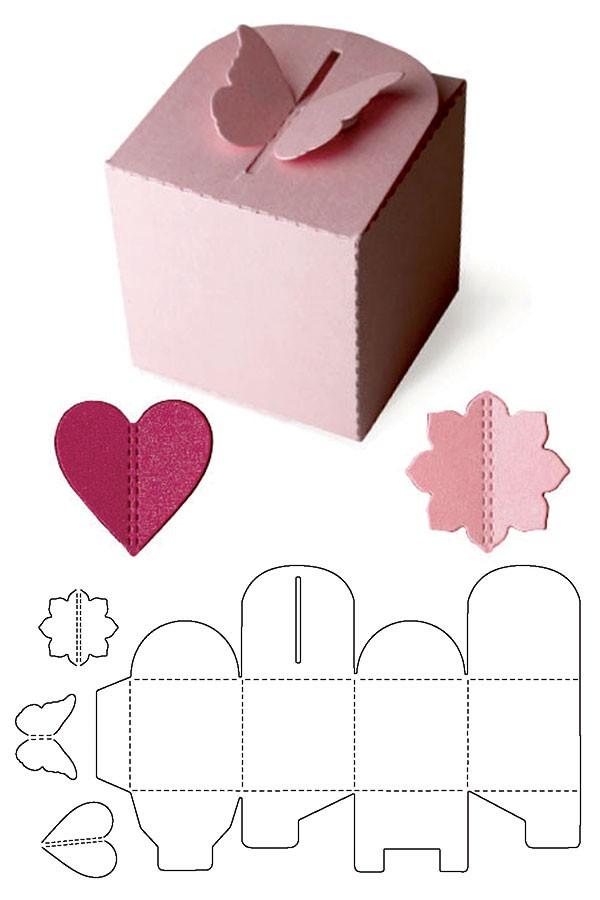 Moldes De Caixas Para Presente Artesanato Passo A Passo