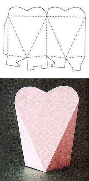 caixa em formato de coração