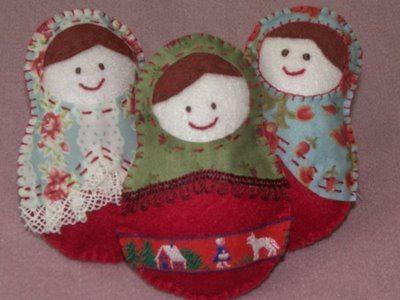 Bonecas de feltro facil de fazer