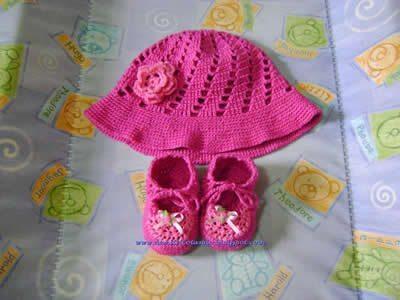62e9f319c5f6c Como fazer chapéu de crochê para bebê passo a passo - Artesanato ...