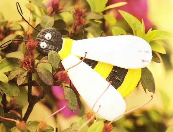 Bichinhos de jardim feitos de sucata passo a passo Artesanato Passo a Passo! -> Decoração De Jardim Com Material Reciclavel
