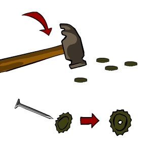 Como fazer um Pandeiro Passo 1 Como fazer um pandeiro com material  reciclável