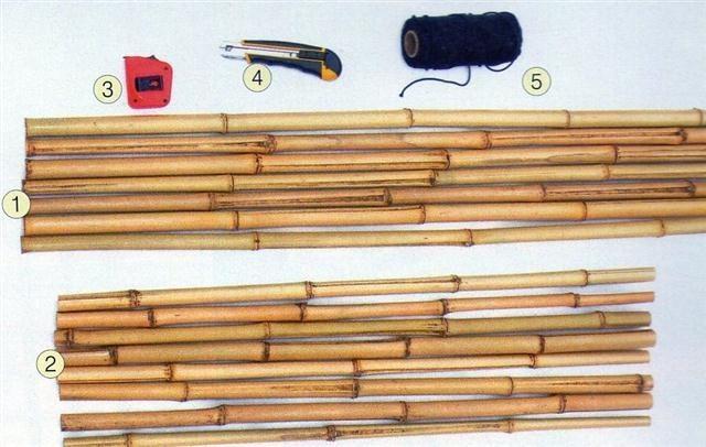 trelica bambu jardim : trelica bambu jardim:Como fazer uma treliça de bambu – Artesanato passo a passo!